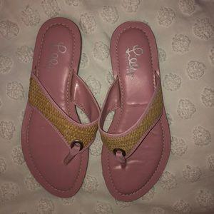 Pink Lilly Pulitzer Flip Flops